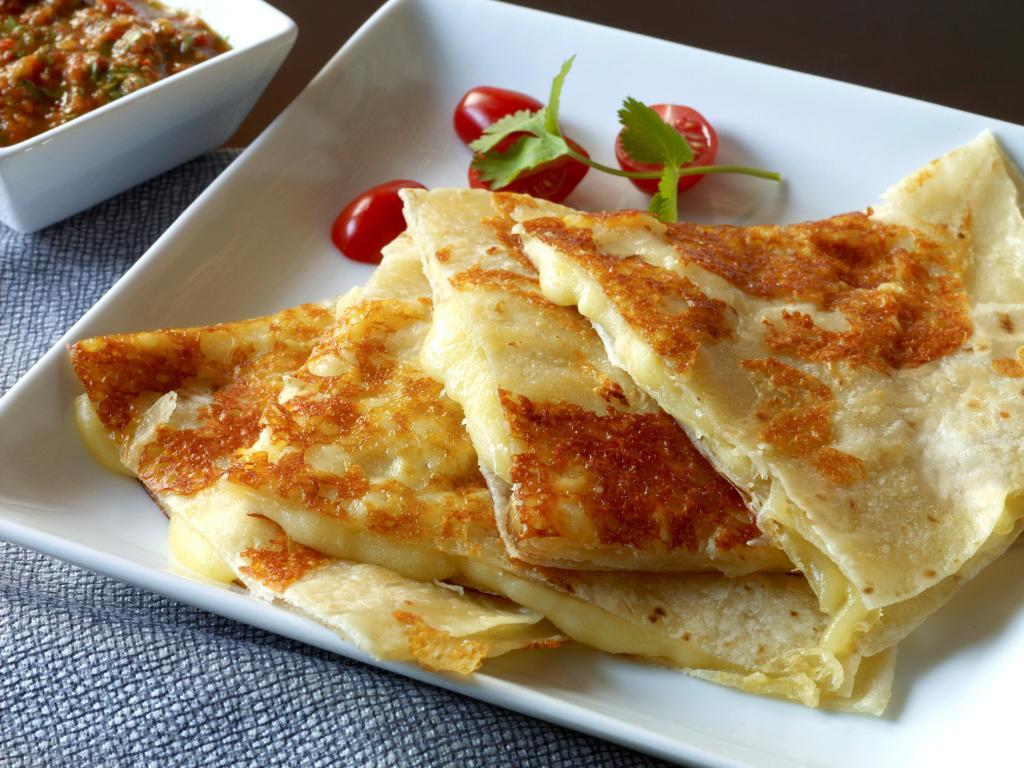Cotija-Crusted Quesadilla