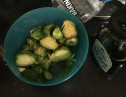 Agave-garlic Brussels Sprouts